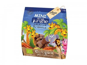 HERBATNIKI MINI JUNGLE KAKAOWE BIO 100G ANIA
