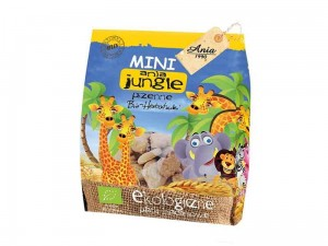 HERBATNIKI MINI JUNGLE PSZENNE BIO 100G ANIA