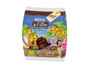 HERBATNIKI MINI JUNGLE Z CZEKOLADĄ BIO 100G ANIA